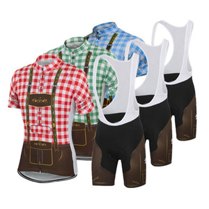 Summer Classic Men Women Pro Bike Kit Vintage Plaid Cycling Jersey and Bib Shorts Set Road Bicycle Clothes GEL Breathable Pad Bike Clothing