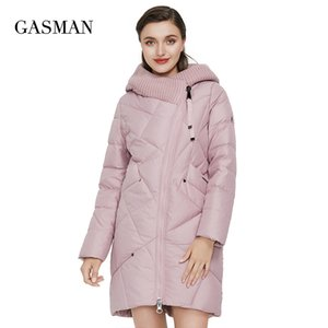 GASMAN New Winter Jacket Women's Hooded Warm Long Thick Coat Hooded Parka Female Warm Collection Down Jacket Plus Size 1702 201118