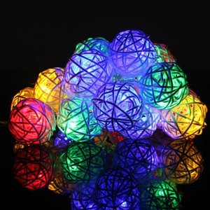 2m 20 LED Bulbs String Lights Ball Globe Fairy Lamp Festival Xmas Indoor