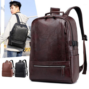 Men Anti Theft Laptop Backpack Vintage Leather Travel bagpack Male computer backbags school bag for boys Rugzak Sac A Dos Homme1