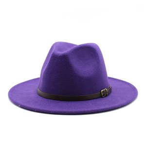 Marque Ozyc Hiver Automne Imitation Laine Femmes Mesdames Fedoras Top Jazz Chapeau Européenne Américaine Caps Caps Bowler Hats1