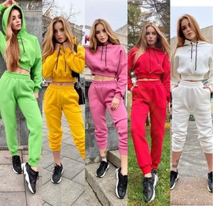 New fashion selling Europe and the United States autumn winter new women's fashion sports casual hoodie suit jacket + pants