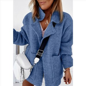 Women 2020 Long Sleeve Woolen Coats Fashion Ladies Thick Plaid Coat Female Streetwear Girls Oversize Jacket Chic