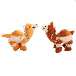 Плюшевые верблюд плюшевые брелки Симпатичные мягкие верблюжьей цепочки ключей смешные фаршированные дети подарочные игрушки плюшевые среди нас Пелуши