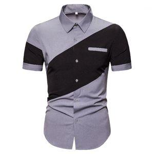 Collo Paneling Allentato Mens Tees Casual Maschi Abbigliamento Summer Mens Designer Polos Fashion manica corta