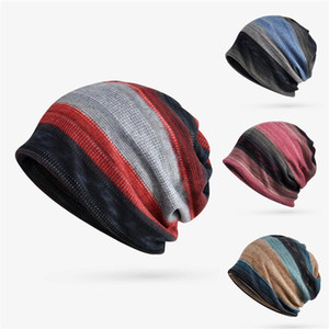 New Beanies Cap Scarf Cotton Blend Stretch Sun Hat Autumn Winter With Plush Cycling Neck Warmer Head Wear 2020