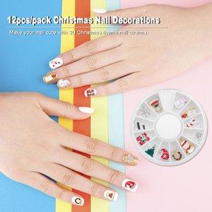 12 PZ 3D Natale lega gioielli glitter strass rhinestones nail art decorazioni