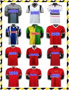 Retro Man Utd Cantona Beckham Fussball Jersey 1992 94 82 84 86 88 89 90 91 94 96 97 Altes Fußball-Hemd