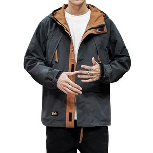 Oloey 2020 Winter New Men's Hooded Jacket Trendy Multi-pocket Loose Overalls Jacket Japanese Retro Plus Size Casual Hoodie