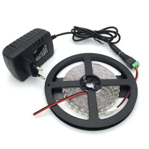 5m roll ultra bright led strip SMD 5050 2835 DC12v flexible led strips 60LED meter 300LED strips lights+2A 5A adapter +DC connector