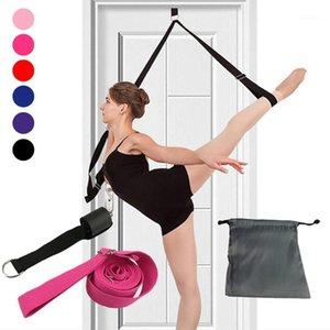 Flexibilidade da porta das bandas da resistência Esticando a alça da maca do perna para a dança do ballet Dança do treinador da ginástica do treinador da ioga
