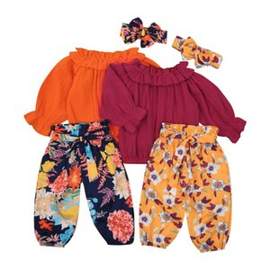 pudcoco Baby Girls Floral 3PCS Outfits Ruffle Long Sleeve Tops+Belted Flowers Pants Fashion Casual Holiday Clothes Fall 0-4Years