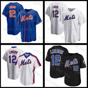 12 Francisco Lindor Jersey 2021 NUOVO CUSTOM METS Pete Alonso Jacob degent York Jerseball Mike Piazza Keith Hernandez Dwight Gooden