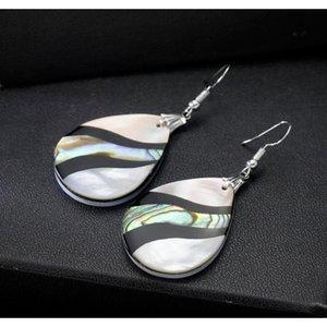 Wholesale Abalone Earrings Geometric Shell Earrings Dangle Colorful Unique Charms Women Earrings Jewelry Decor bbyWNm nana_shop