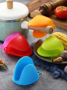Clips Silicone Anti-scalding Oven Mitts Kitchen Silicone Heat Resistant Gloves Cooking Baking Bowl Insulated Oven Mitts