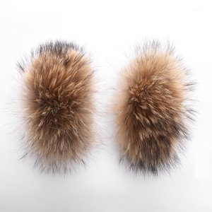Lavelache 100% Puffs de piel reales Grande natural Mapache 2020 Winter New Fashion1