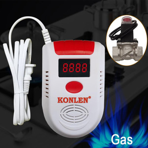 CH4 gaz naturel Détecteur de fuite Solenoid vanne d'arrêt GPL numérique méthane fuite alarme Capteur filaire sans fil pour la maison de sécurité