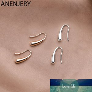 Personality Water Drop Silver Rose Gold Earrings Silver Color Small Cute Earring for Women Girl Gifts S-E1160