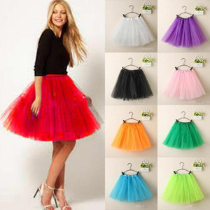Women Vintage Tulle Skirt Short Tutu Mini Skirts Adult Fancy Ballet Dancewear Party Costume Ball Gown Mini skirt Summer 2020 Hot1
