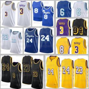 20/21 Los City Angeles Anthony 3 Davis Jerseys 23 Player Alex 4 Caruso Talen 5 Horton-Tucker Kyle 0 Kuzma Black Mamba Mens Ballball Jersey