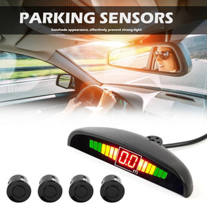 Car Parktronic LED Display Auto Parking Sensor Kit Reverse Backup Car Parking Radar Monitor Detector System With 4 Sensor