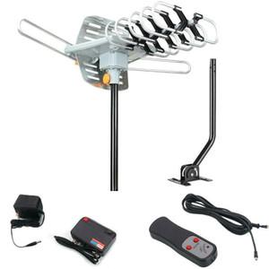 Yeni HDTV Anten Amplifiye Dijital TV Anteni 150mile 360 Döner Kutuplu Açık