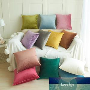 45*45cm Square Decorative Velvet Pillow Cases Zipper Home Hotel Solid Fashion Eco-Friendly Pillowcases 8A1767 Pillow Case