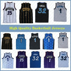 High-Quality 32 O'Neal Jersey Penny 15 Carter Jerseys Tracy 1 McGrady Jerseys Stitched College Shirts Mens Vince 1 Hardaway Shirt Basketball