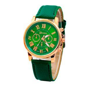 Дизайнер Роскошные Мода Повседневная Золотая Женская Часы Браслет Женщины Женева Римские Числовые Номер Faux Кожаные Аналоговые Кварцевые Часы