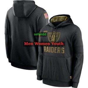 мужчины OaklandРейдерыТолстовка 2020 Тан 2021 SaluteвобслуживаниеТолстовка Толстовка Sideline Терма пуловер Hoodie