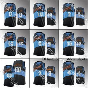 ClevelandCavaliersFormalar Erkekler Kevin Aşk Collin Sexton Darius Garland Yıldönümü Claasic Siyah Özel Sıcak Basın City New Edition