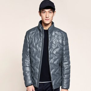MRMT 2019 Brand New Men's Jackets Vertical Collar Warm Down Clothing Overcoat for Male Fashion Pure Color Jacket Clothing