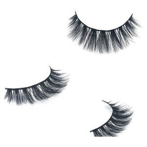 2020 3d Mink Hair Fake Eyelash 100% Thick real mink HAIR false eyelashes natural Extension fake Eyelashes false lashes free shipping