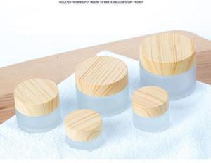 Wood grain cream bottles frosted clear bottles portable travel mask cosmetic box liquid emulsion jars 5g 10g 15g 30g 50g 100g