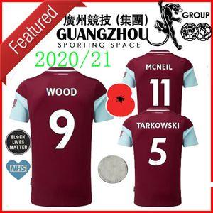 20 21 футбольные трикотажные изделия домой Mcneil 11 100-летний герои Tarkowski 5 Wood 9 Barnes 10 Rodriguez 19 2020 джерси футбол