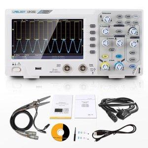Labloot LB1202 الرقمية الذبذبات التخزين، 2 قنوات 220 ميجا هرتز النطاق الترددي 7 '' محمول شاشة LCD المحمولة انسداد انسجام USB 1