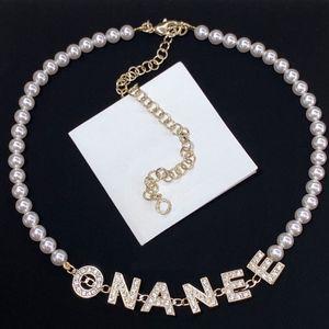 Moda ouro pérola colar bijoux coradores para senhora mulheres festa amantes casamento presente jóias de noivado para noiva com caixa