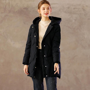 Fashion 2020 Winter Down Jacket Women Stand Collar Solid Black Female Down Coat Loose Oversized Womens Long Parka