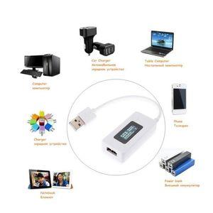 شاشة LCD مصغرة الإبداعية الهاتف USB تستر المحمولة الطبيب الجهد الحالي متر المحمول powe jllijh yy_dhhome