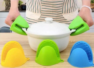 Kitchen Silicone Heat Resistant Gloves Clips Insulation Non Stick Anti-slip Pot Holder Clip Cooking Baking Oven Mitts Kitchen Tools