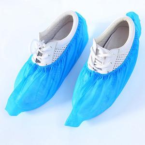 100 unids / lote cubiertas de zapatos para zapatos desechables cubre de botas domésticas de tela no tejida antideslizante desechable zapatos engrosados cubierta VTKY2117
