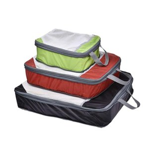 High Quality 3 Set Nylon Material Luggage Compression Packing Cubes Compression Packing For Travel