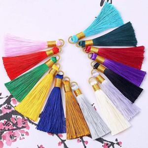2019 New 5pcs Lot 8cm Multicolor Cotton Silk Tassel Brush Cords Fit Earrings Charm Pendant Satin Tassel For Car Bag H qylKJl