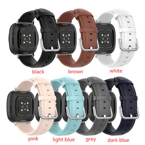 Universal Replacement Real Leather Wrist Sport Strap Watch Band for -Fitbit Versa 3 Sense Bracelet Smart Watch