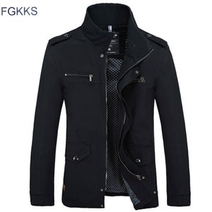 FGKKS Brand Men Jacket Coats Fashion Trench Coat New Autumn Casual Silm Fit Overcoat Black Bomber Jacket Male Y1112