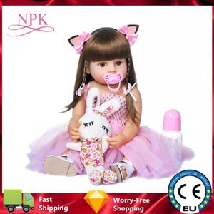 NPK Bebe Reborn Puppen 55 cm 26cm Baby Kleinkind Puppen Neugeborene Puppe Silikon Weiche Ganzkörper Realistische Baby Spielzeug Weihnachtsgeschenk Mädchen C1204