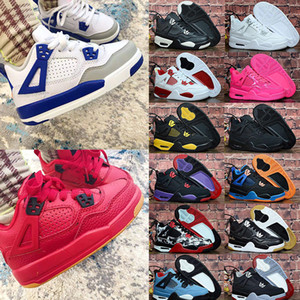 New Arrival 2020 Childrens Jumpman 4 4s Bred Kids Girls Basketball Shoes Low High Concord 45 Sail Neon Chicago Mid Milan Sneakers Trainers