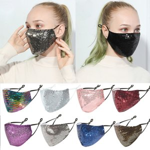 New trendy net red summer sequin masks breathable bling bling thin masks men and women adult personality fashion life masks