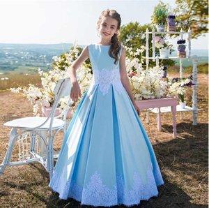 2121 Nuevos vestidos de niñas de flores Shinny lentejuelas ruchadas de la parte baja de la espalda de la espalda de la fiesta de cumpleaños de la niña vestidos de concurso