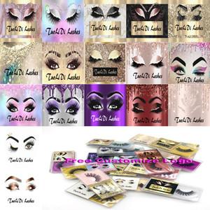 ¡Nueva llegada !!! 3D Pestañas de visón Extensiones de pestañas individuales 3D Mink Lashes Logotipo privado Logo Personalizado Peach Falso Mink Eye Lajas Paquete Cajas de paquete